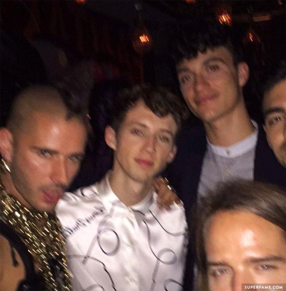 Troye Sivan and Jacob Bixenman.