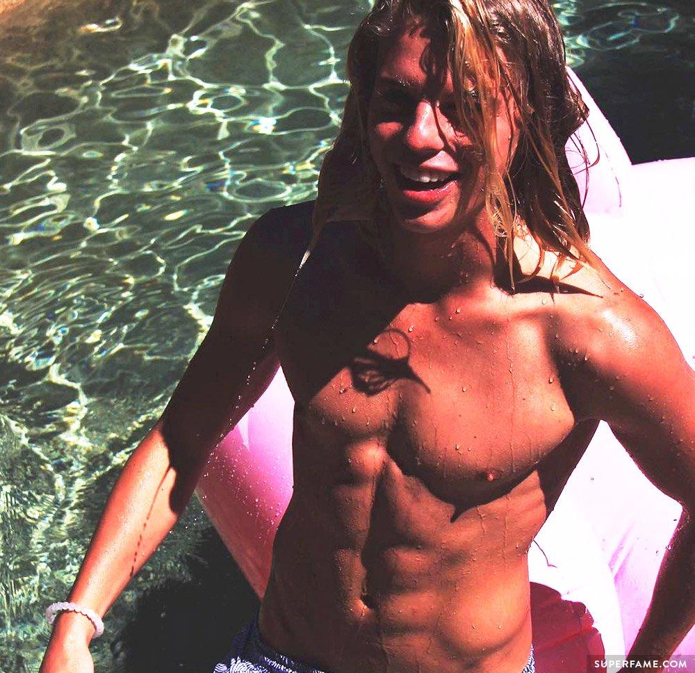 Alex Hayes shirtless.