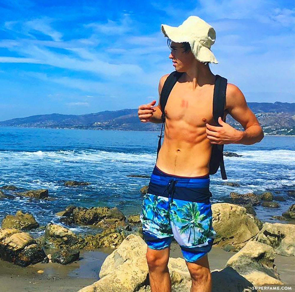 Nash Grier shirtless.