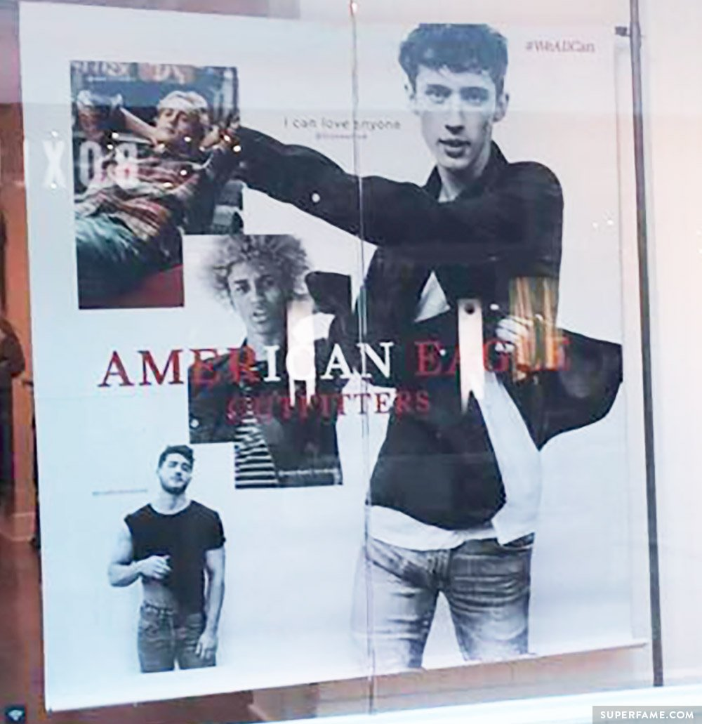 Troye Sivan billboard sign.