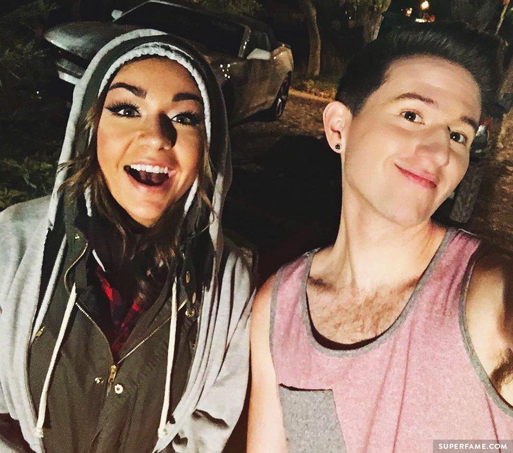 Andrea Russett and Ricky.