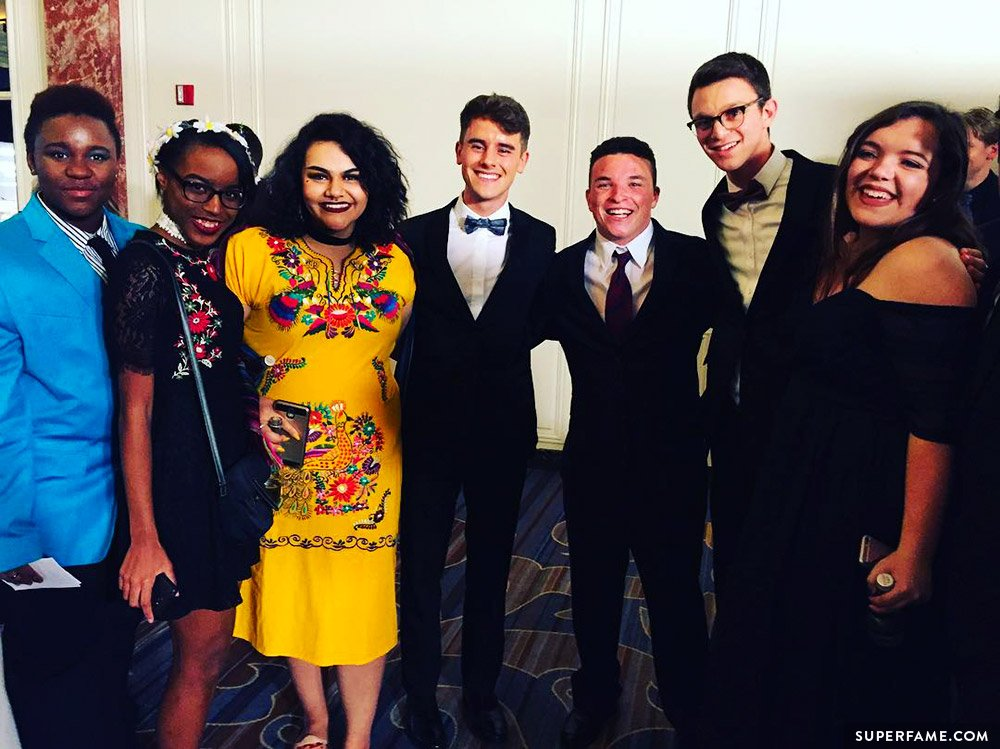Connor Franta with honorees.