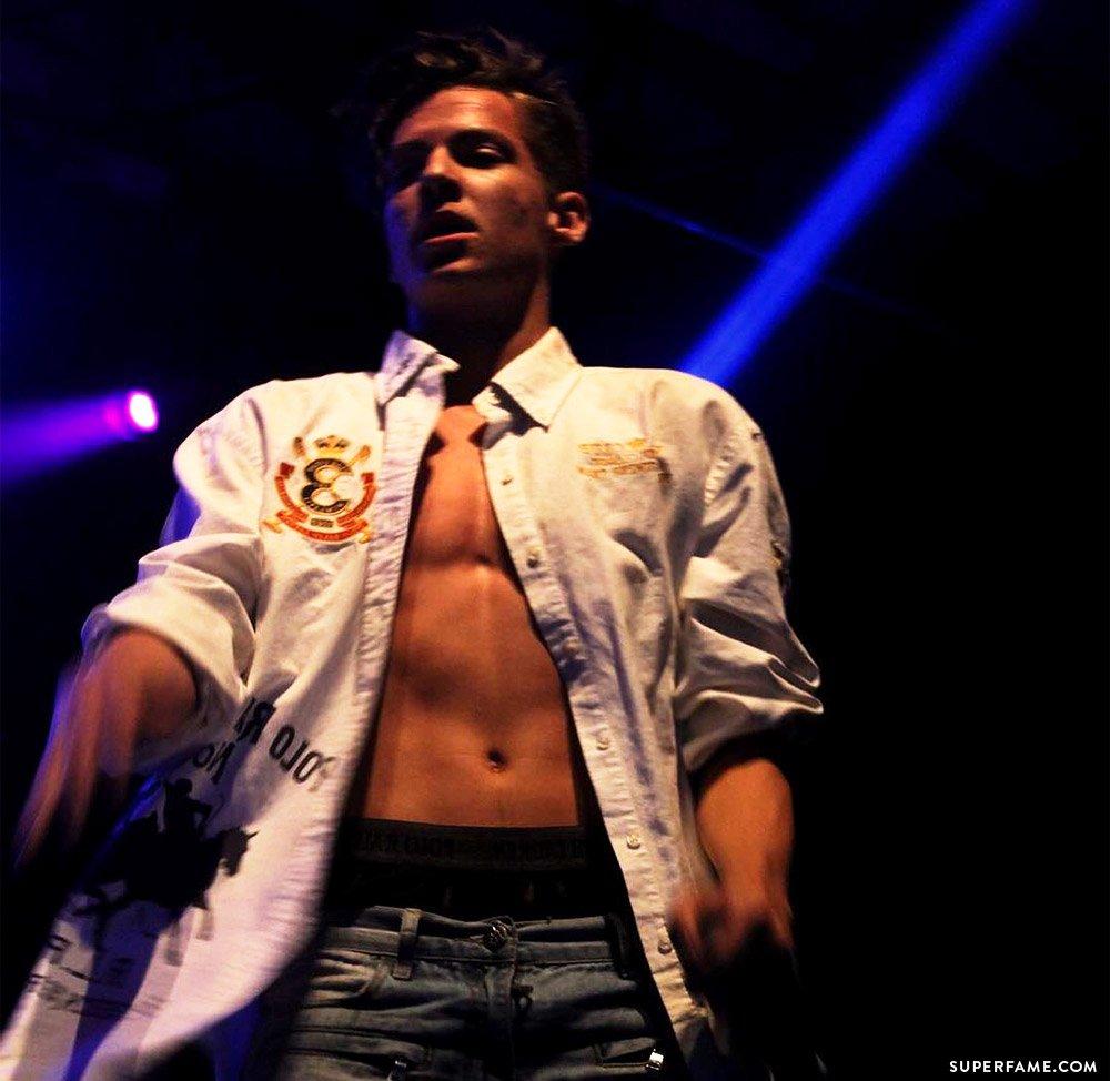Dillon Rupp shirtless.