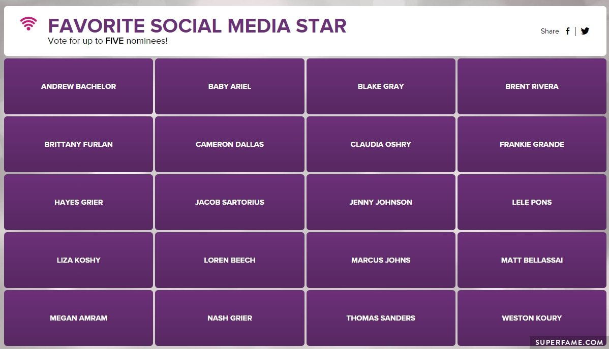 favorite-social-media-star