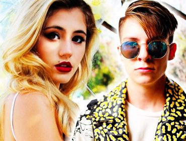 Lia Marie Johnson and Dillon Rupp.