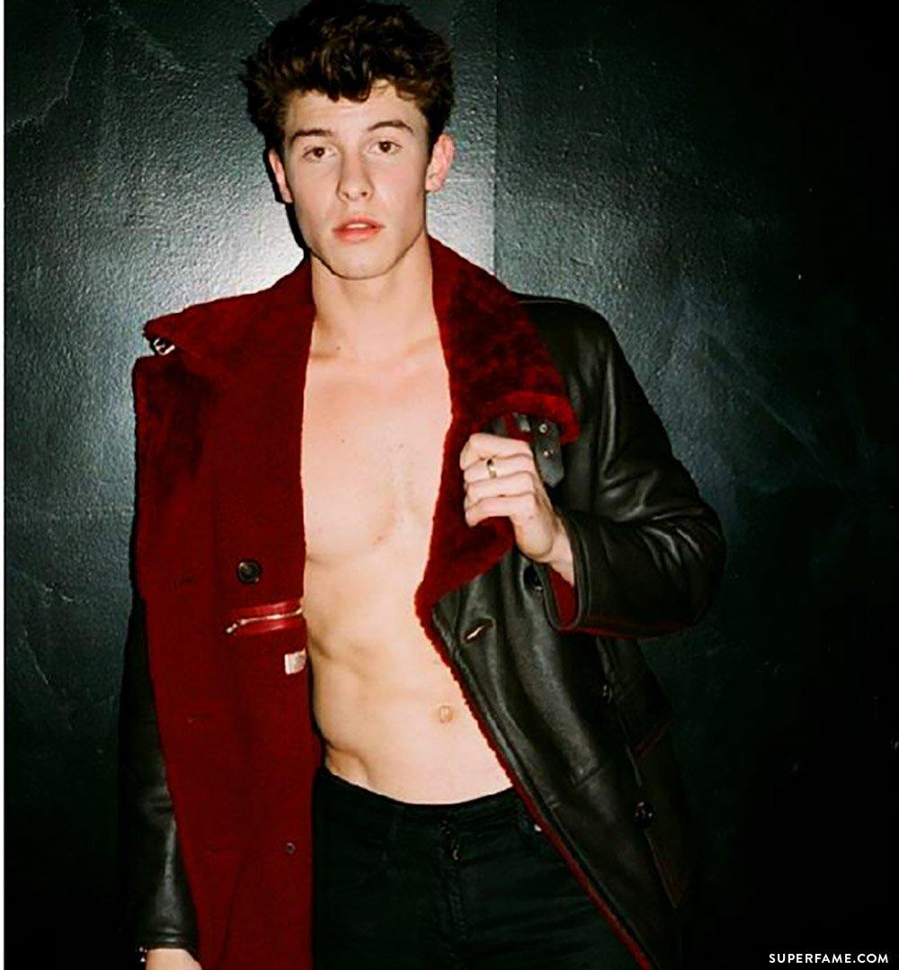 Shawn topless.