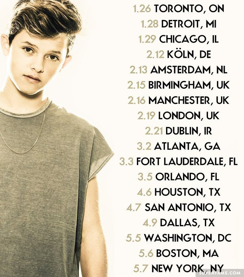 Jacob's tour locations.