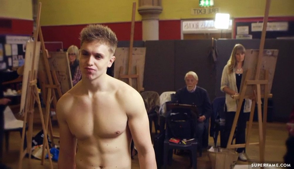 Joe Weller topless.