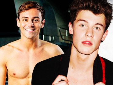 Tom Daley and Shawn Mendes.