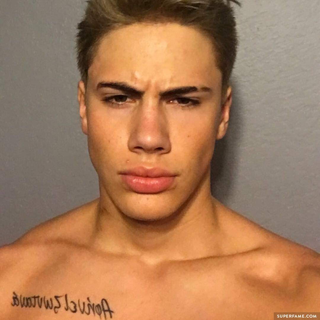 Aaron Fuller shirtless.