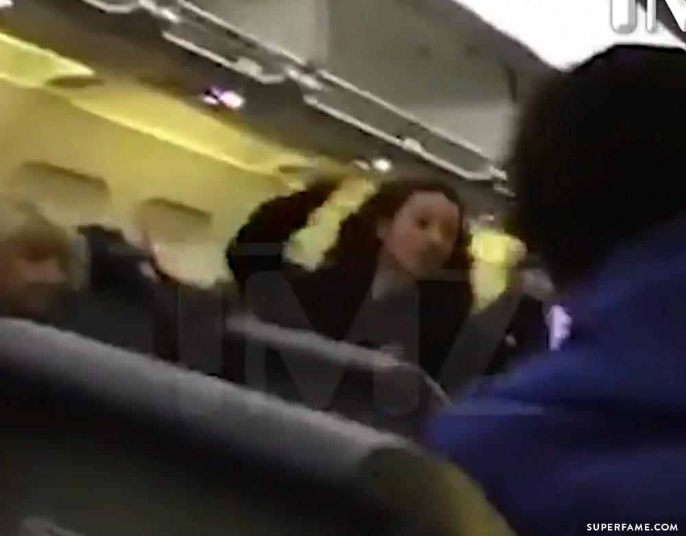 Danielle Bregoli fighting on plane.