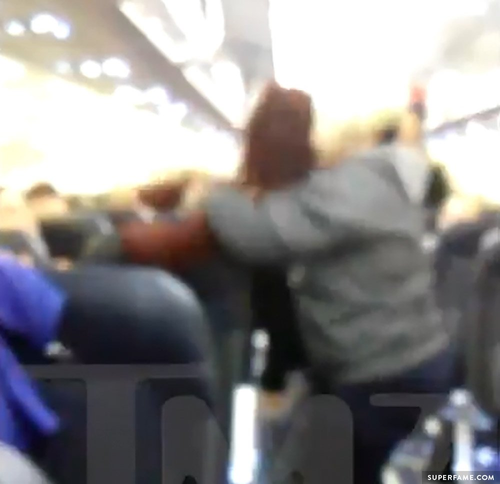 Airplane fight.