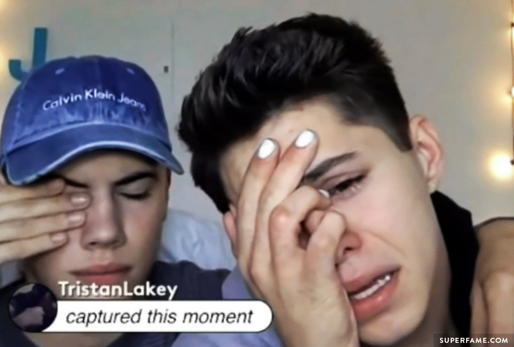 Jackson Krecioch crying.