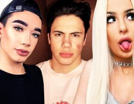 James Charles, Aaron Fuller and Tana Mongeau.