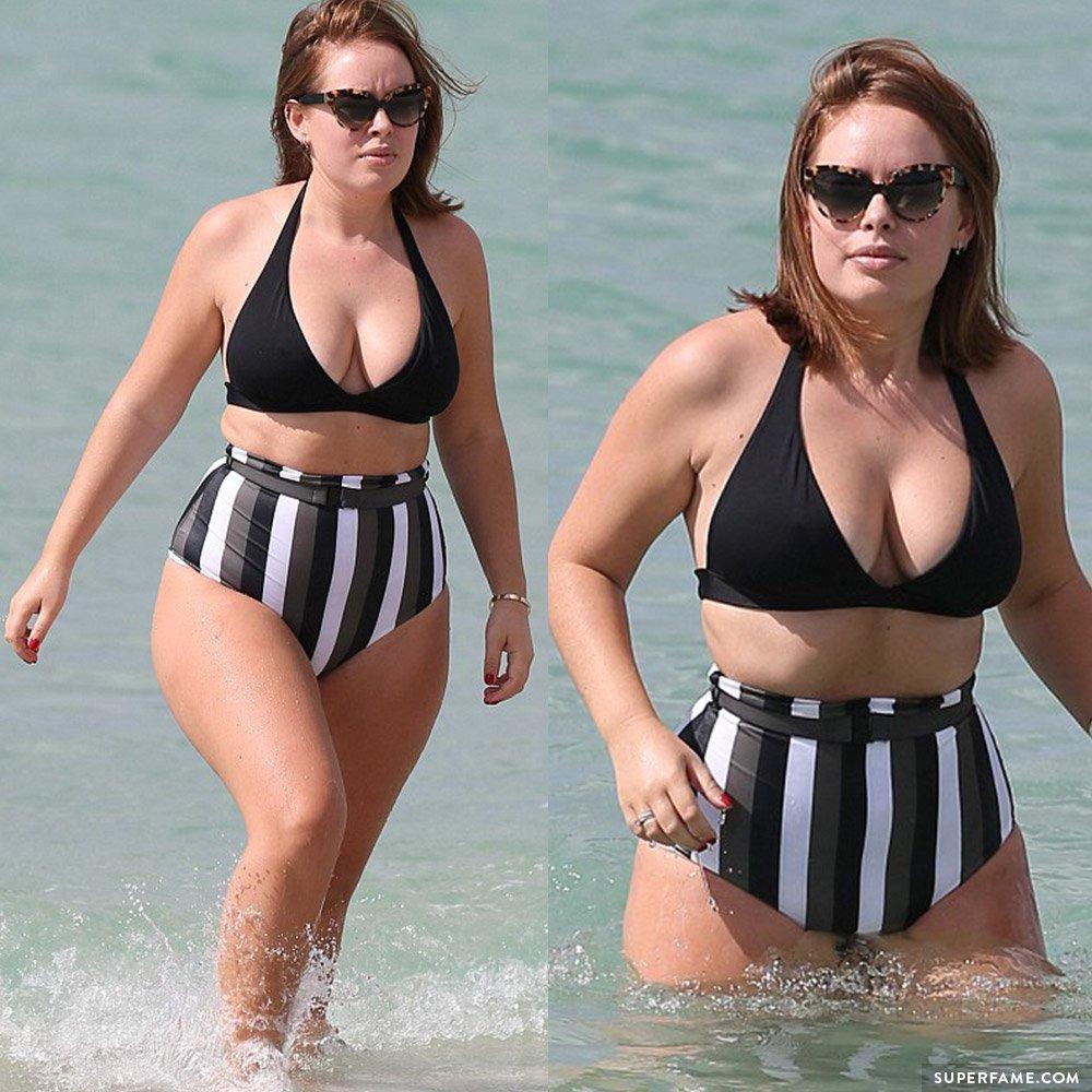 Tanya Burr's bikini.