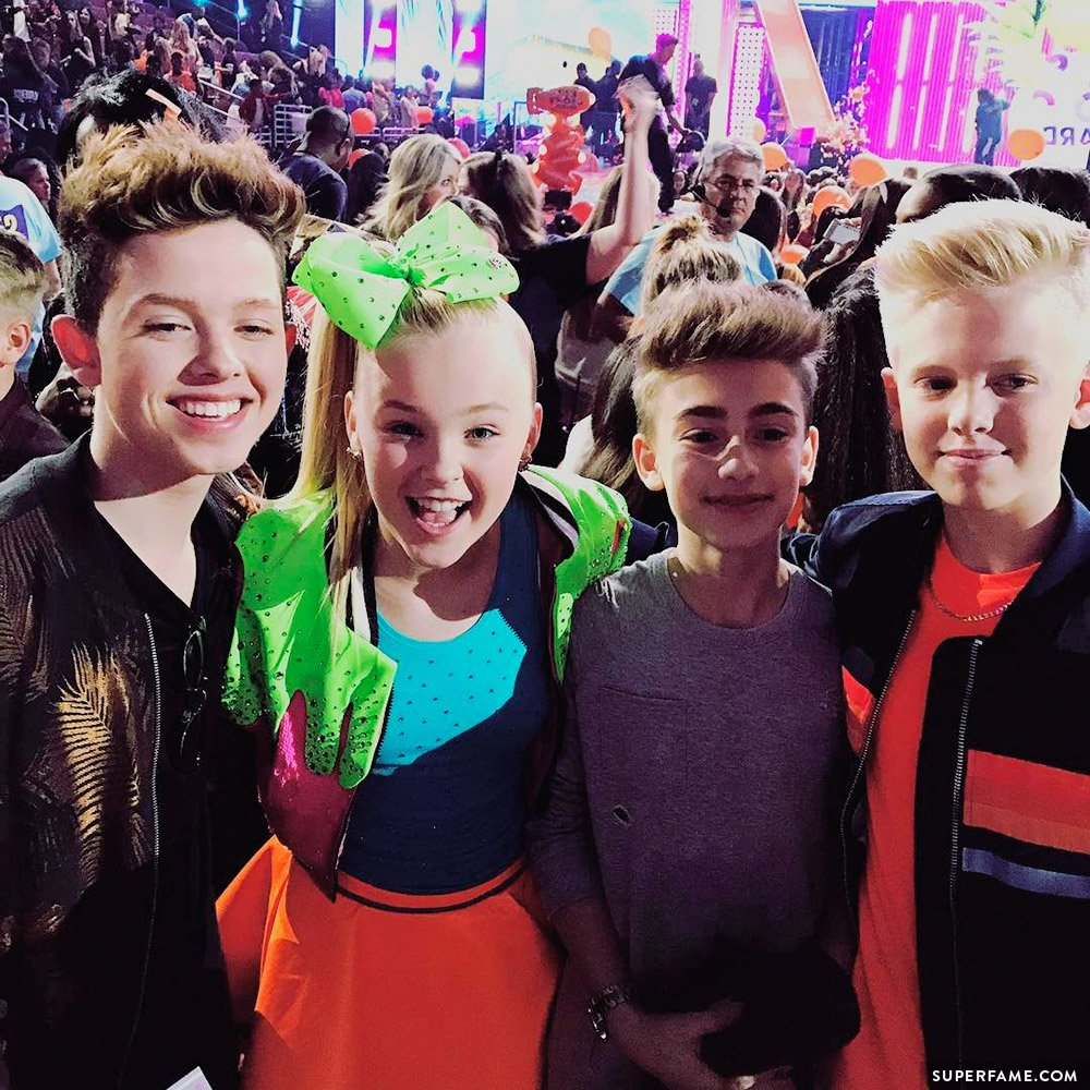 Jojo Siwa, Jacob, Carson & Johnny.