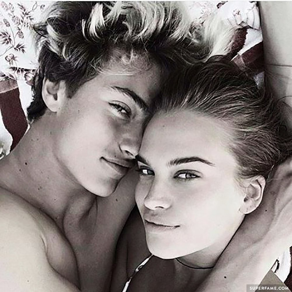 Lucky Blue Smith and Stormi.