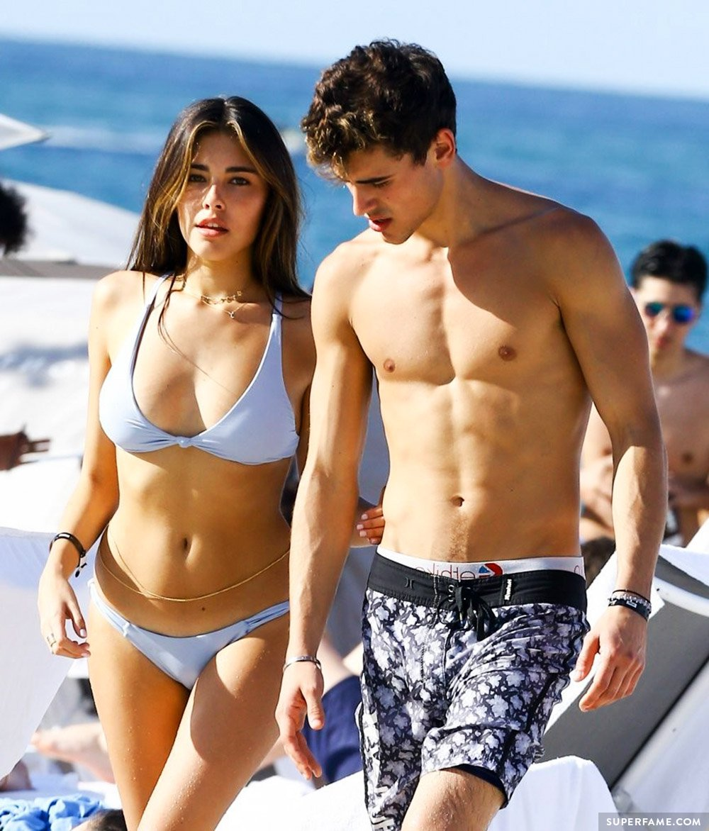 Madison Beer with Jack Gilinsky shirtless.