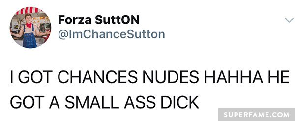 Fans mock Chance.