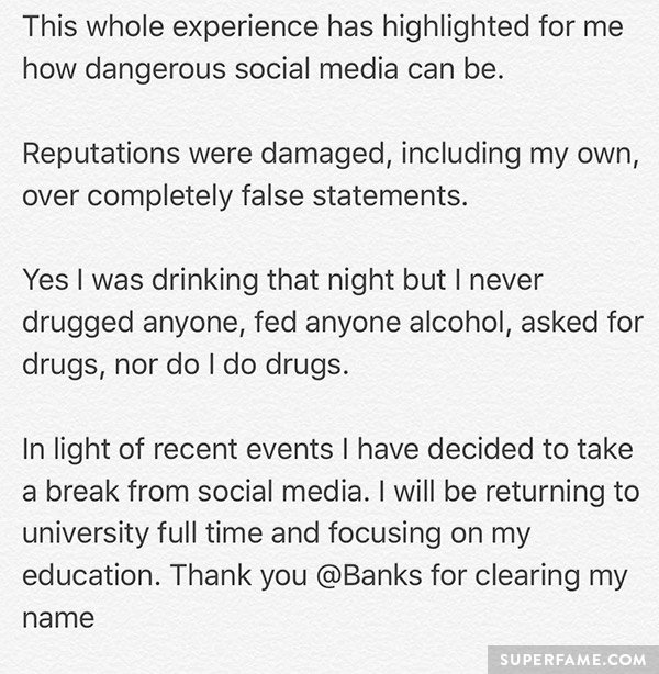 Max's statement.