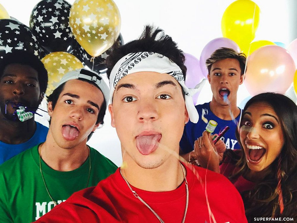 Taylor Caniff, Cameron Dallas, Aaron Carpenter.