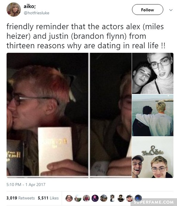 alex and justin dating 13 reasons why online dating hes always online