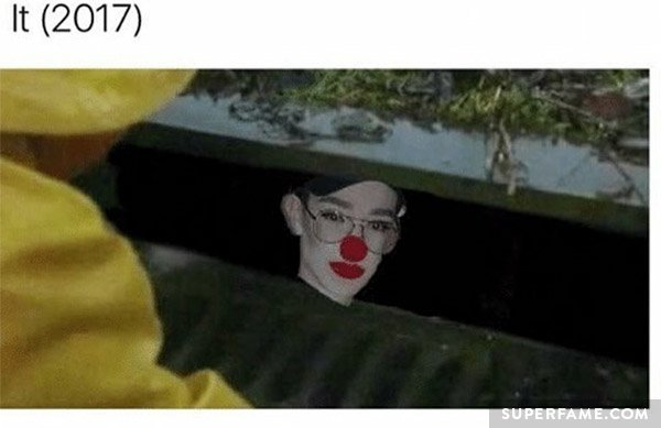 James Charles as IT clown.