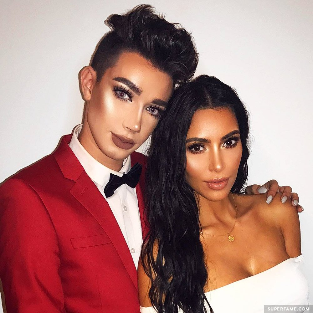 James Charles and Kim Kardashian.