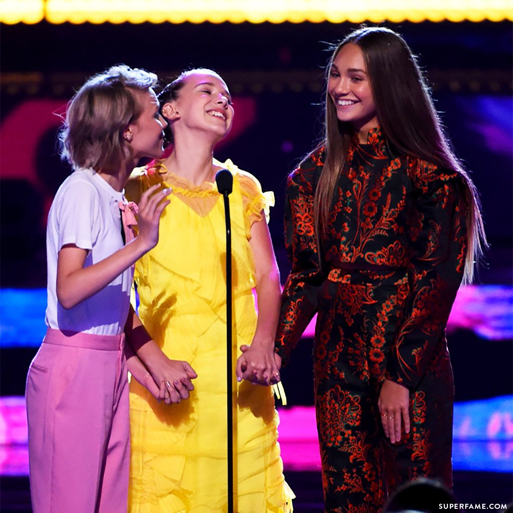 Millie Bobby Brown, Maddie Ziegler, Grace.