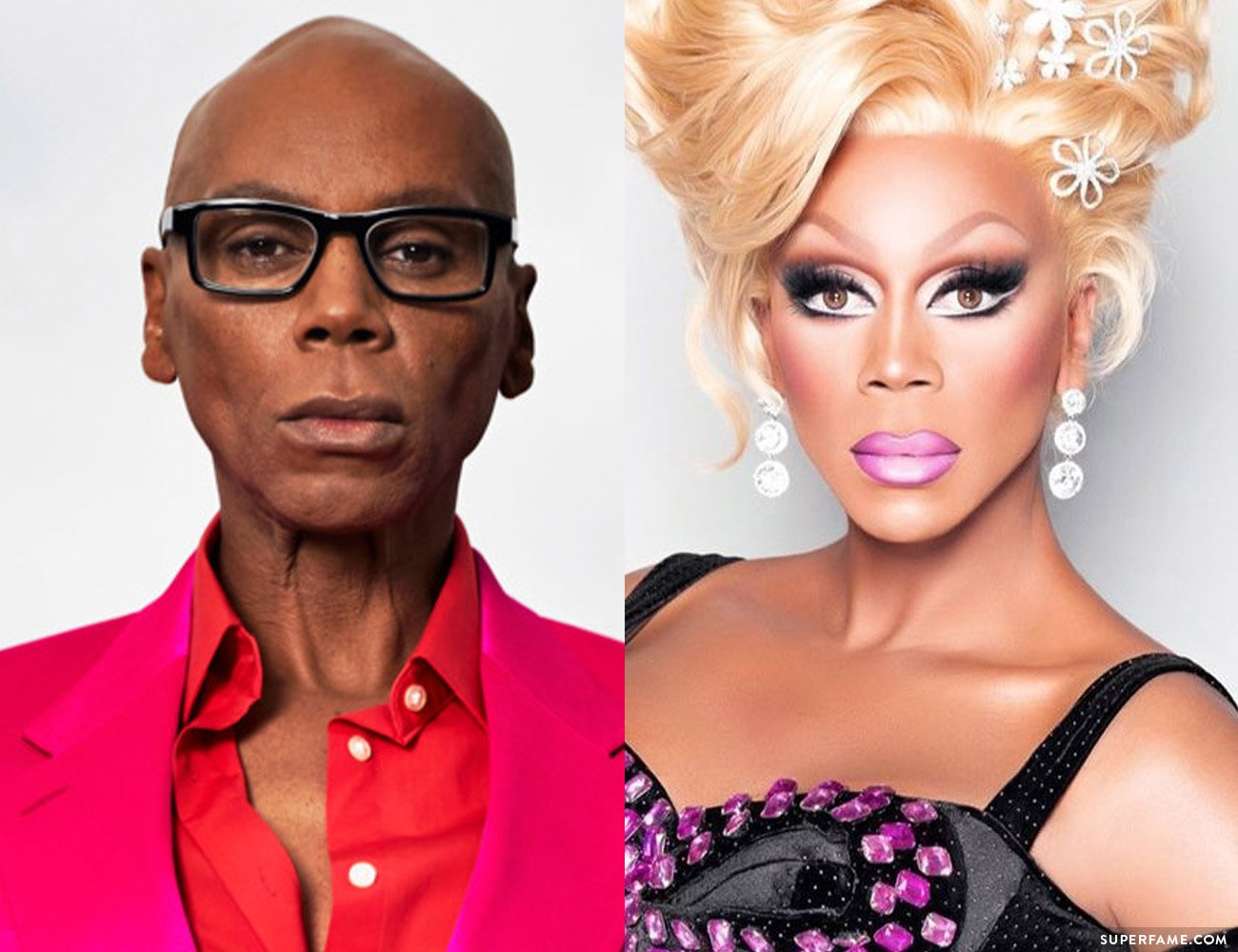 RuPaul before & after.