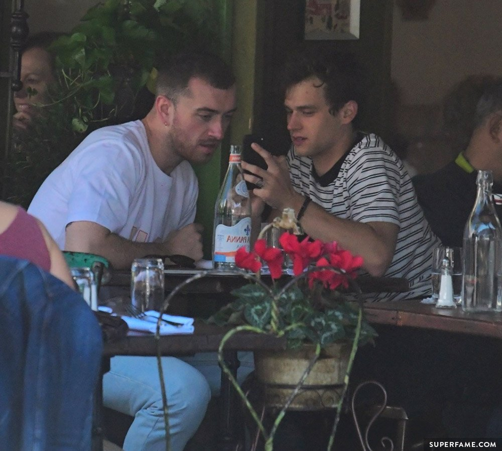 Sam Smith & Brandon on a date.